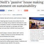 Napa Valley Register | O'Neill's 'passive' house making a statement on sustainability